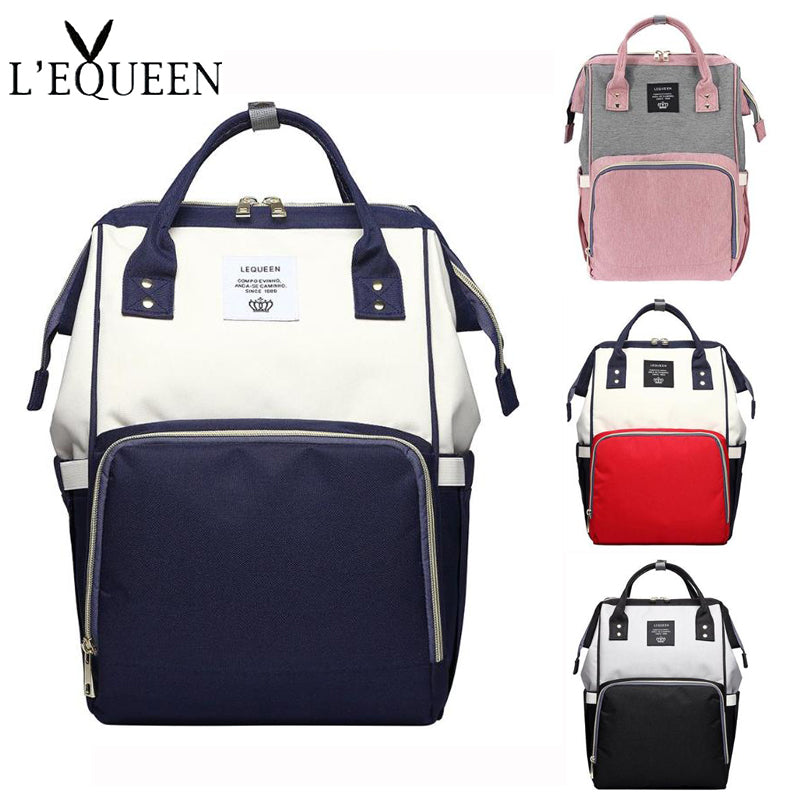Fashion Brand Mummy Maternity Nappy Bag Large Capacity Baby Diaper Bags Designer Nursing Bag Travel Backpack For Mother Baby