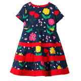Baby Girls Dress 2018 Summer Floral Dress Princess Costume Unicorn Party Vestidos Kids Dresses for Girls Children Clothing