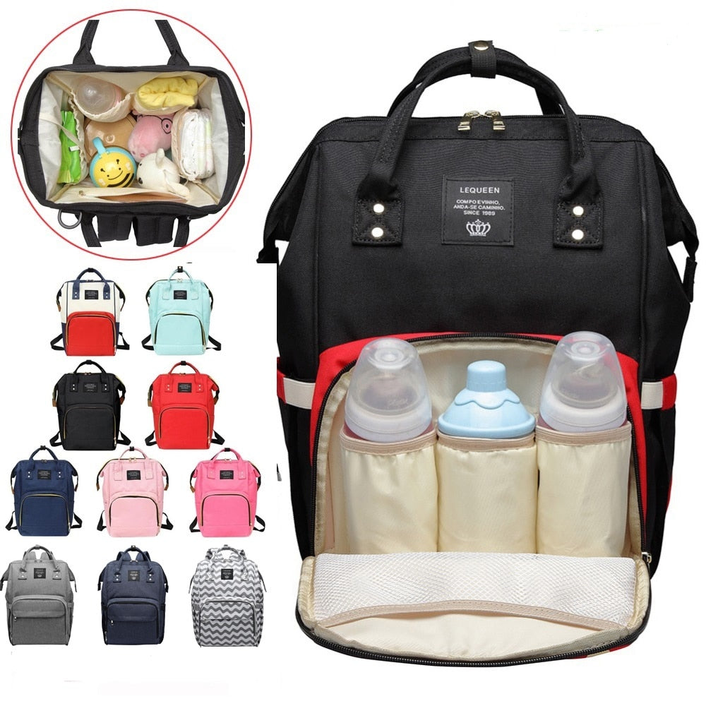 2019 new Women Mummy Maternity Travel Backpacks Big Capacity Baby Nursing Handbags Backpack Designer Nursing Bag Baby Care