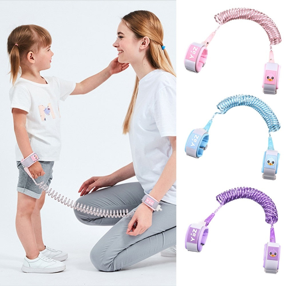 Child Wrist Leash Baby Safety Walking Harness Anti Lost Adjustable Traction Rope Reminder Toddler Wristband Walk Assistant Belt