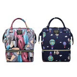 Waterproof Mummy Maternity Printed Diaper Bag Large Nursing Travel Backpack  Nursing Bag Baby Care For Dad and Mom