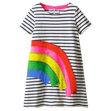 Kids Dress for Girls Clothes 100% Cotton 2019 Brand Summer Party Princess Dress Toddler Vestidos Children Clothing for Kids 2-7Y