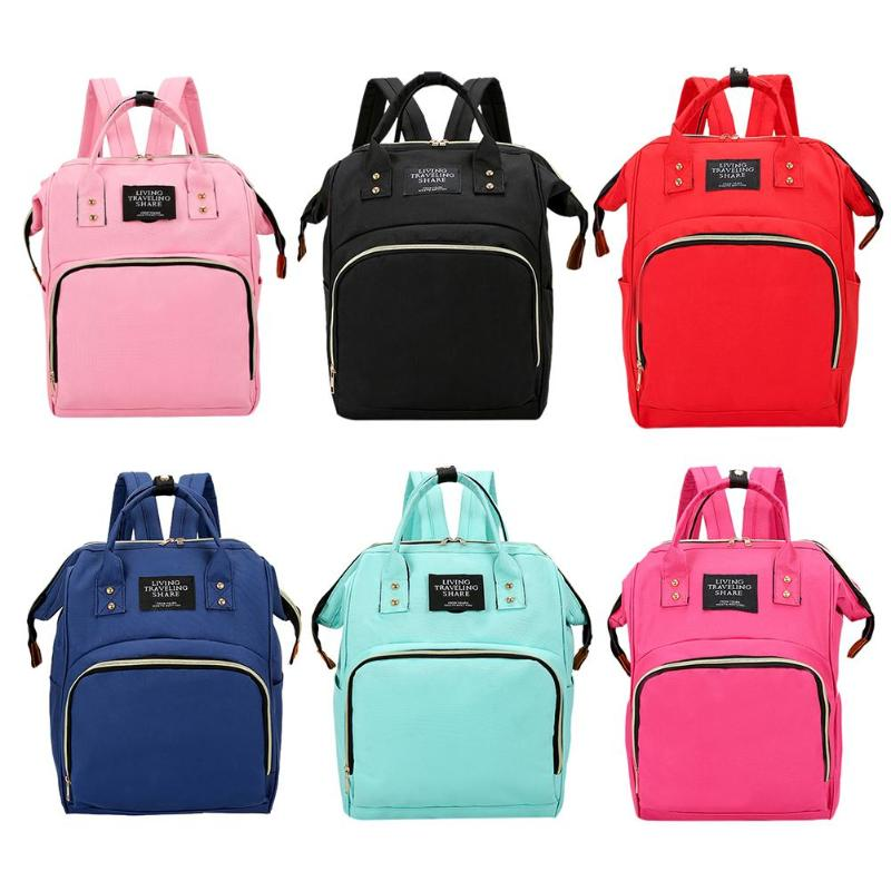 Fashion USB Charging Mummy Diaper Bags Large Capacity Waterproof Travel Maternity Backpack Baby Nappy Nursing Bag Baby Organizer