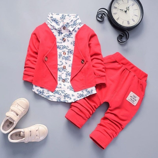 BibiCola spring autumn boys Clothing Set kids clothes sets children boys casual 2 pcs suit jackets hoodies+pants boys sport suit