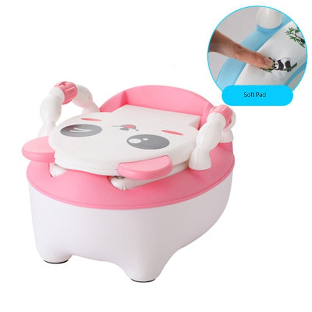 Arrival Baby Potty Toilet Bowl Cute Cartoon Training Pan Toilet Seat Children Bedpan Portable Urinal Comfortable Backrest Pot