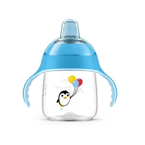 AVENT 260ml/200ml BPA Free Cartoon Soft Spout Cups With Handles Bottle Feeding Sippy Cup For 6m+ Baby Drinking Water