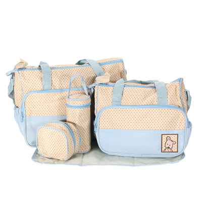 5pcs Baby Pad Diaper Bag Nappy Bags Sets for Pregnant maternity Mother Kid baby Stroller Bottle Holder Multi Function Bags