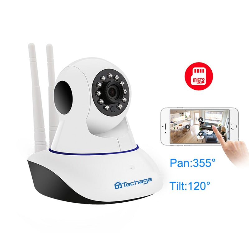 Techage 1080P 720P Wireless IP Camera Night Vision Baby Monitor Home Security 2MP 2-Way Audio Record CCTV Wifi Camera Yoosee APP