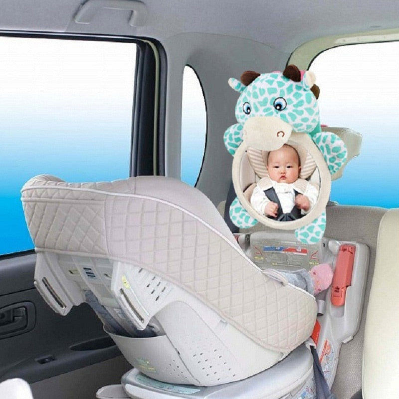 Baby Car Mirror Car Safety View Back Seat Mirror Baby Facing Rear Ward Infant Care Square Safety Kids Monitor Car Accessories