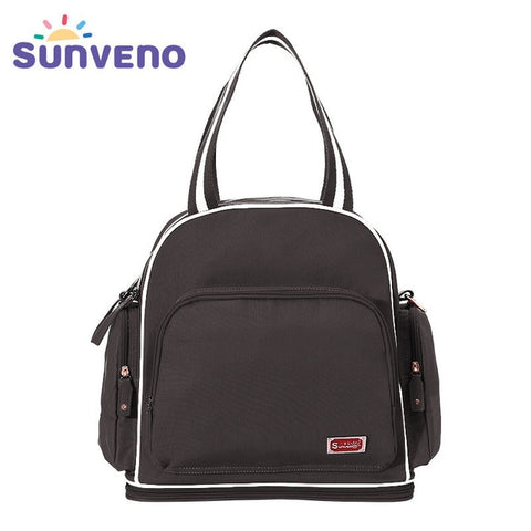 Sunveno New Diaper Bag Large Capacity Maternity Nappy Bag Fashion Baby Backpack for Mom Baby Care Backpack Wet Bag