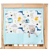 Baby Cot Bed Rooms Nursery Hanging Storage Bag Cotton Cartoon Newborn Crib Cot Organizer Kid Toy Diaper Pocket for Bedding Sets