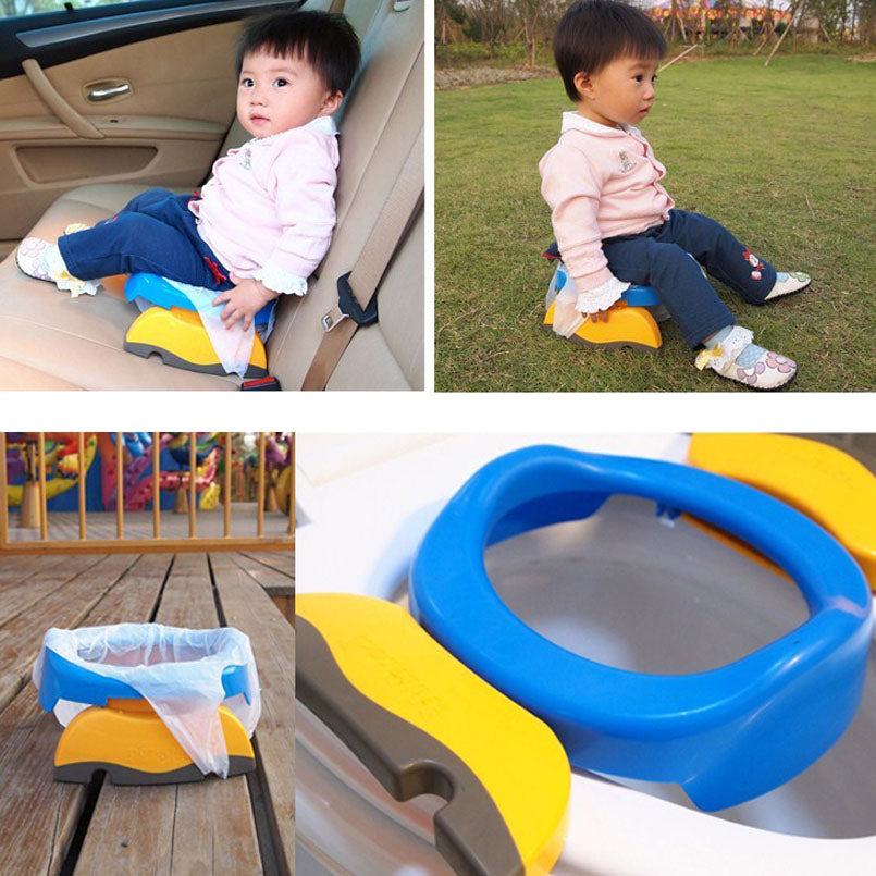 Baby Travel Potty Seat 2 In1 Portable Toilet Seat Kids Comfortable Assistant Multifunctional Environmentally Stool