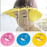 Hot Adjustable Soft Baby Shower Cap Baby Care Bath Protection For Kid Baby Shower Cap Candy Color Multicolor Soft Cap Baby hat