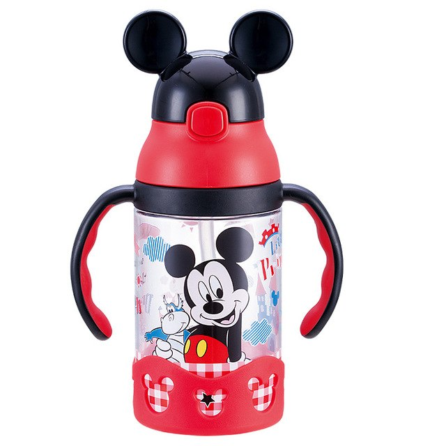 430ML Baby Feeding Plastic Cup Leakproof Drinker With Belt Portable BPA Free Children's Bottle Lovely Tumbler Hiking Home
