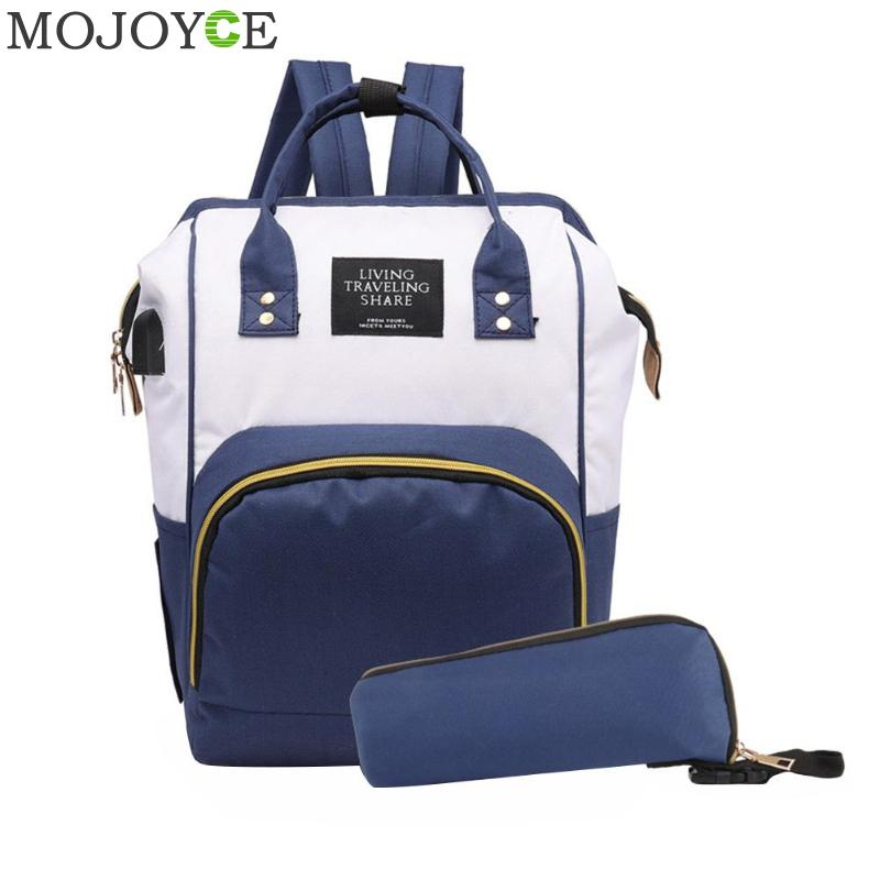 2pcs Fashion Mummy Maternity Nappy Bag Brand Large Capacity Baby Bag Travel Backpack Designer Nursing Bag for Baby Care