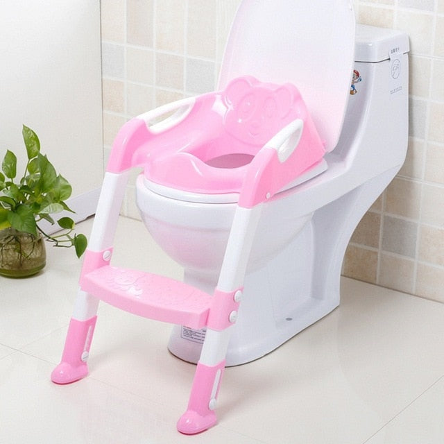 Folding Baby Potty Infant Kids Toilet Training Seat with Adjustable Ladder Portable Urinal Potty Toilet Seat for Kids