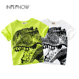 INPEPNOW [IN STOCK] T Shirts for Boys Tshirts Kids Dinosaur Baby Clothes Jurassic Boy T-Shirts for Girls Clothing Top DX-CZX40