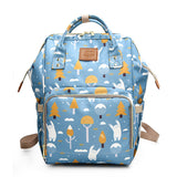 Printed Diaper Bag Fashion Fox Printed Travel Backpack Large Cartoon Maternity Mummy Bags Nursing Bag For Baby Care Wetbag