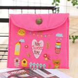 Girl Canvas Diaper Sanitary Napkin Storage Bag Sanitary Pads Towel Menstrual Sanitary Aunt Bag Key Coin Purse Credit Card A40