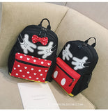 2019 New Minnie Mickey shape Travel Backpack Diaper SchoolBags Canvas Mommy Nappy Bag Baby Mom Storage Mochilas Mummy Bag