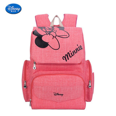 Disney Fashion Mommy Bag  Mickey Baby Diaper Bags Waterproof Maternal Stroller New Traveling And Abroad Minnie  Maternity Bag