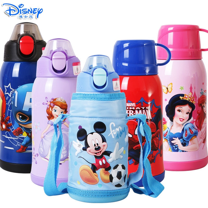 600ML Baby Insulated Mug Bottle With Two Lid Thermos Water Cup Feeding 2018 Winter Kid School Kettle Stainless Steel Thermal Cup