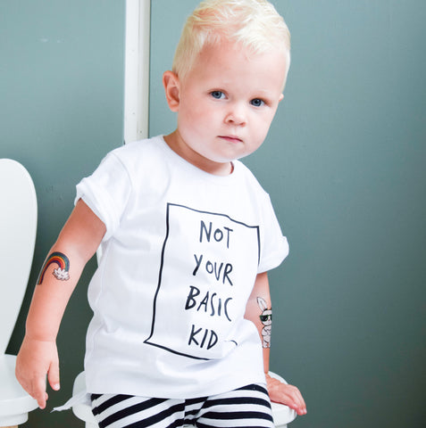Not your Basic Kid Tee White