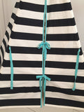 Stripe Teepee with Seafoam trim