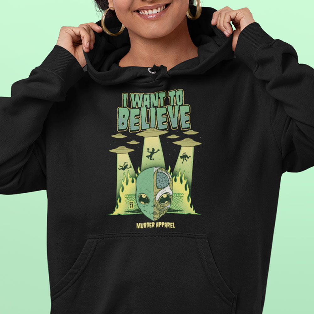 I Want To Believe Alien Hoodie