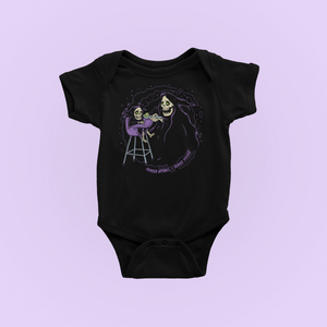Grim Reaper Mom And Baby Bodysuit
