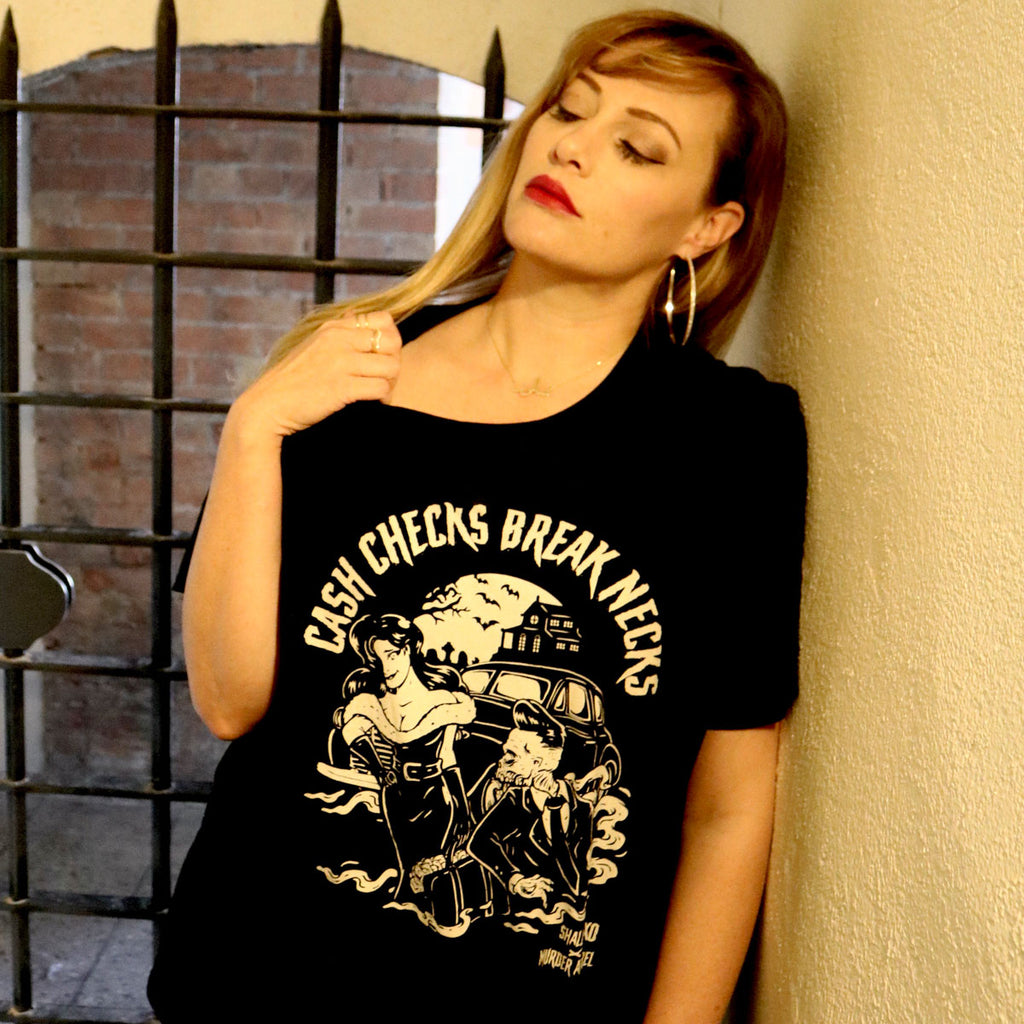 Cash Checks Break Necks T-Shirt