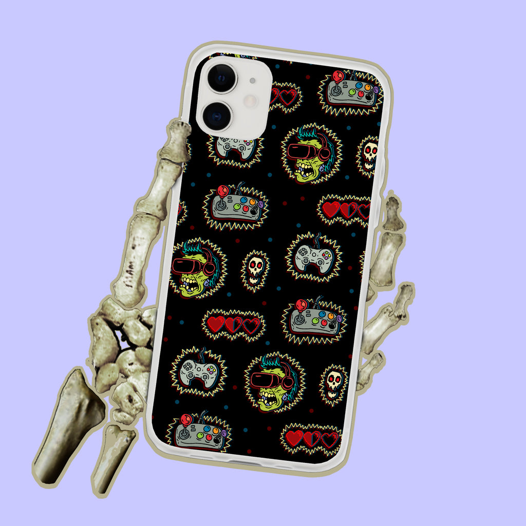 Gamer Zombie iPhone Case