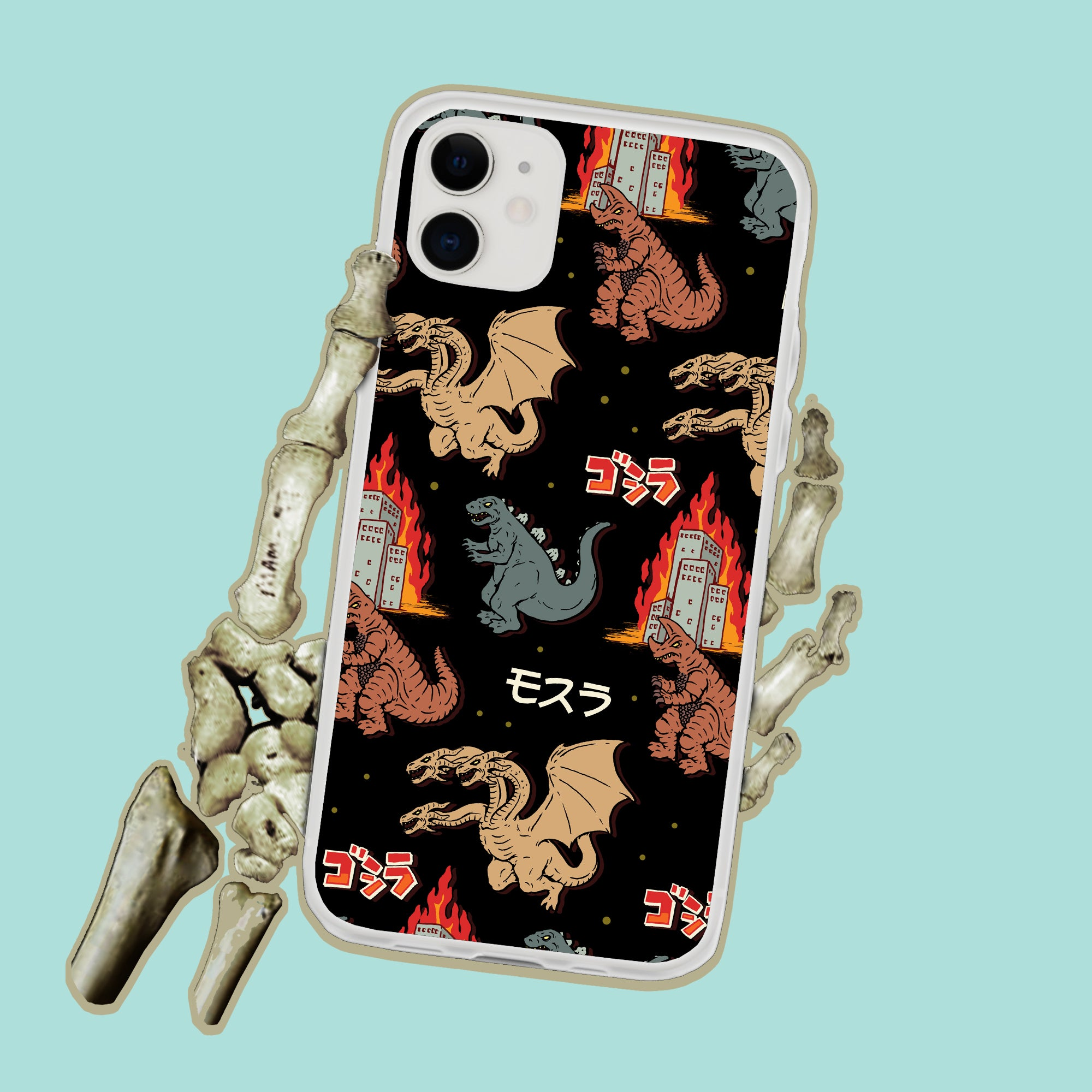 Godzilla And Friends Japanese Monsters iPhone Case