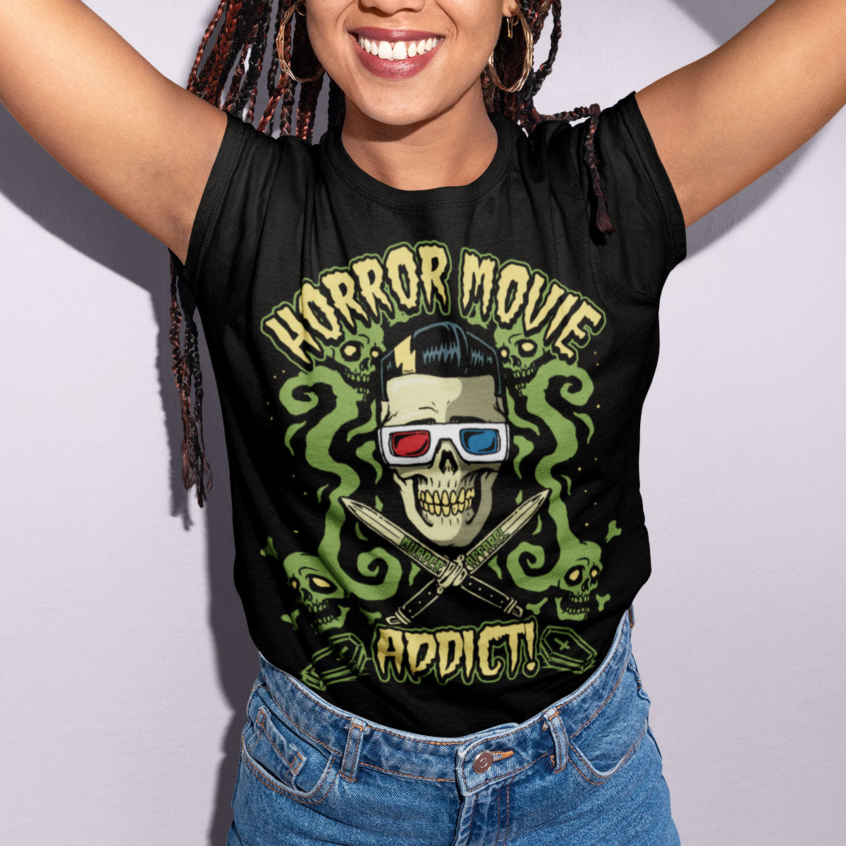 Horror Movies Addict T-Shirt - Murder Apparel