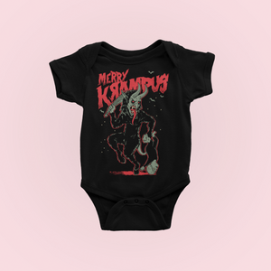Merry Krampus Christmas Baby Bodysuit