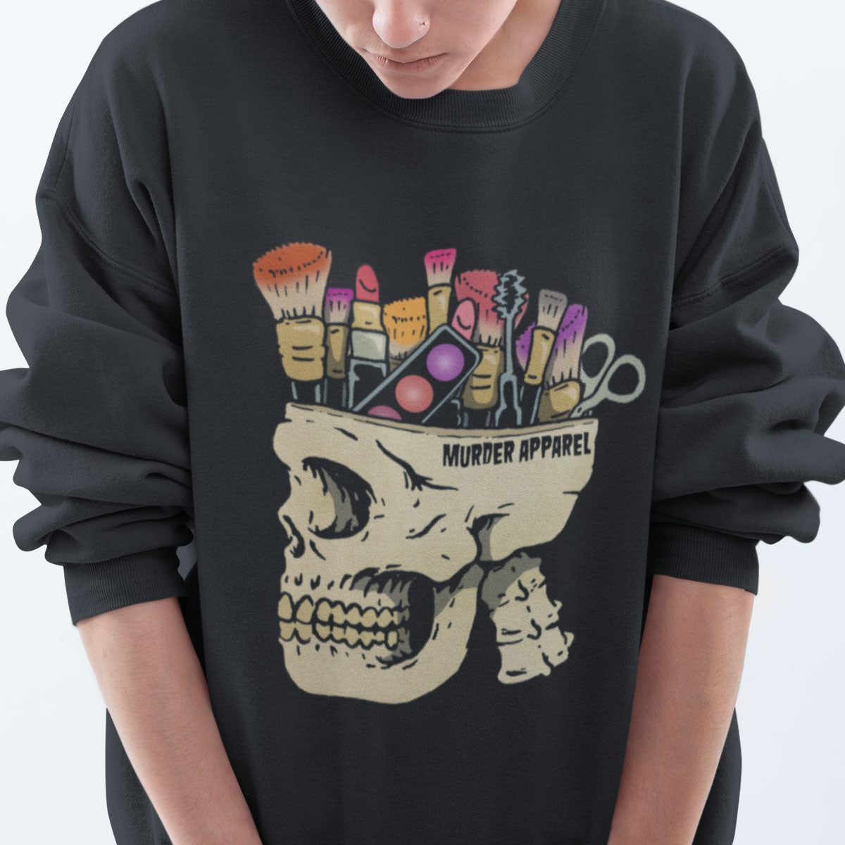 Make Up Addict Skull Sweatshirt