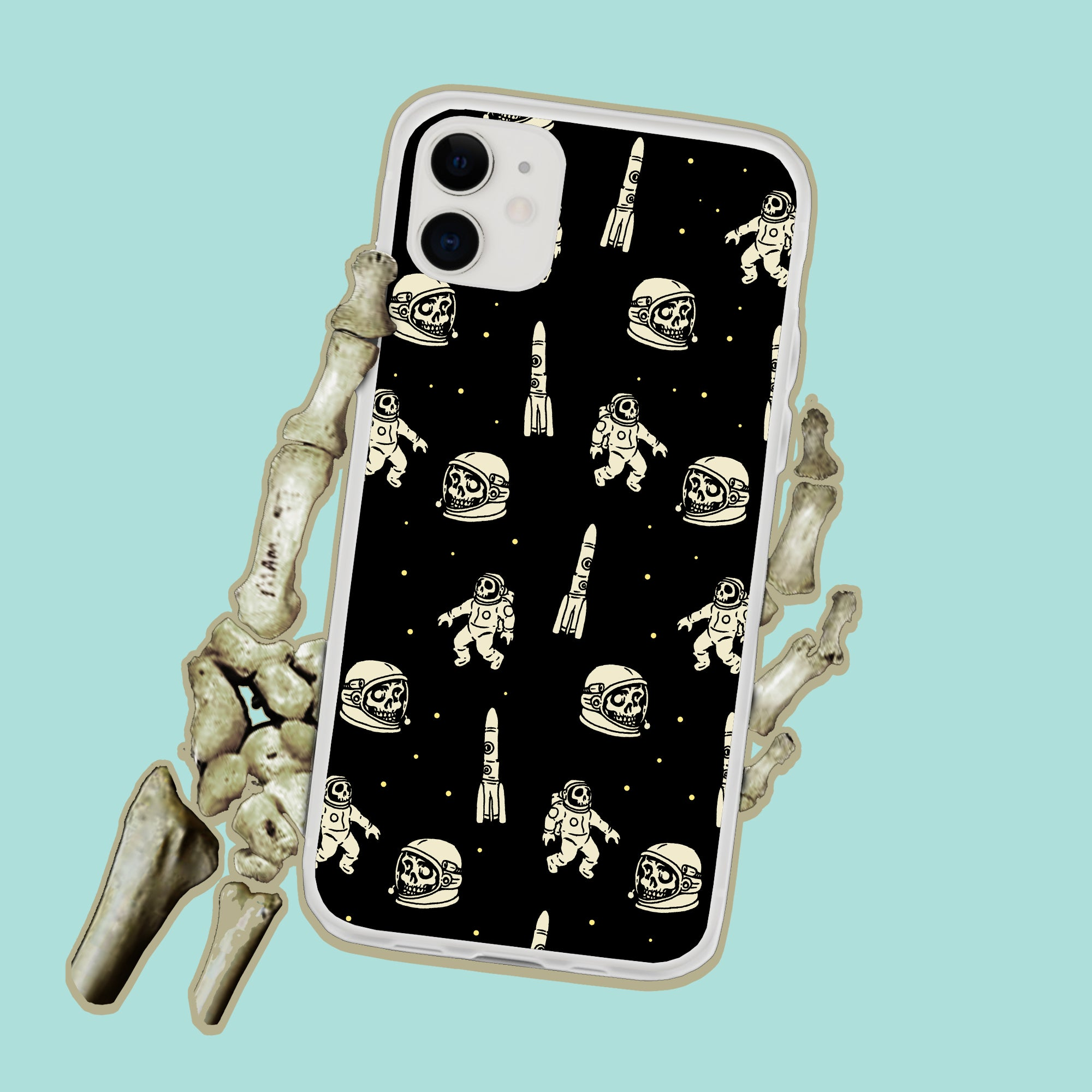 Astronaut Skull NASA Space iPhone Case