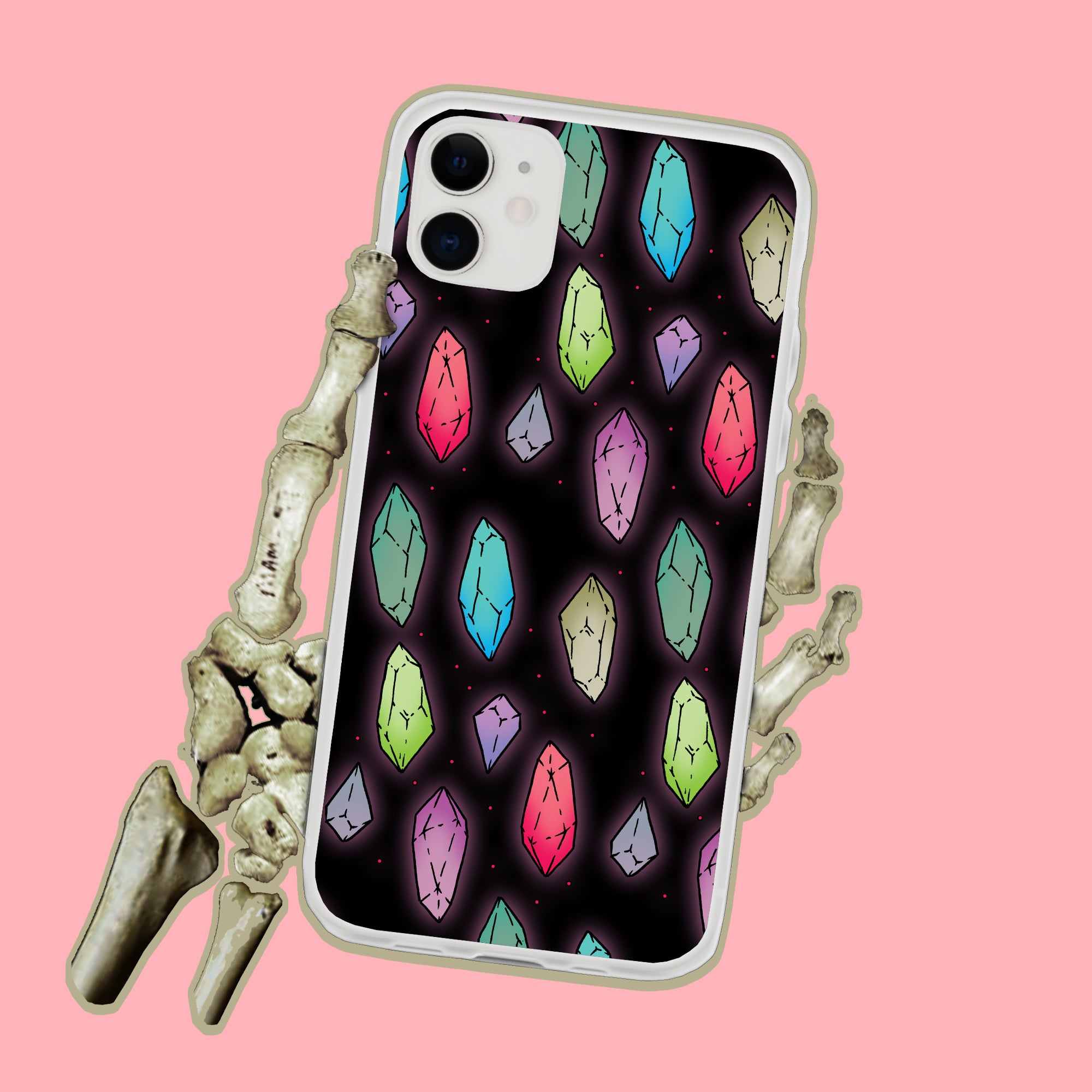 Crystals Magical Witchy iPhone Case
