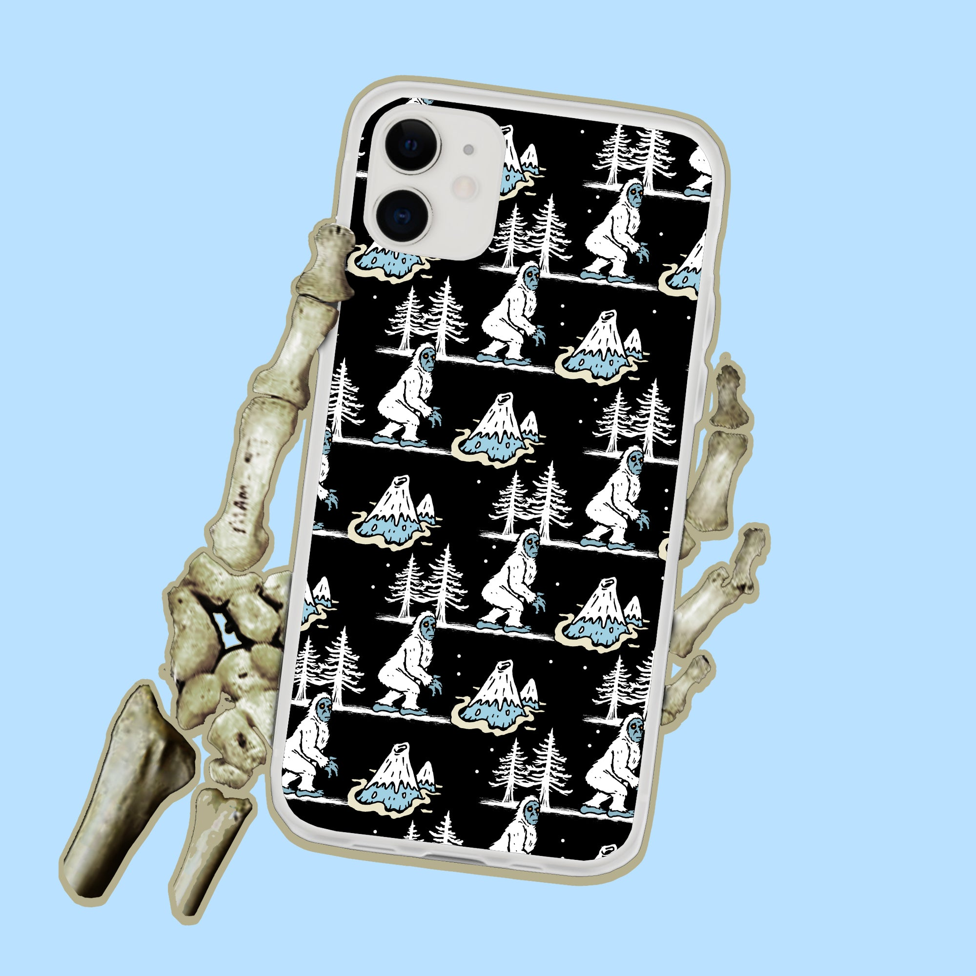 Yeti Abominable Snowman Christmas iPhone Case