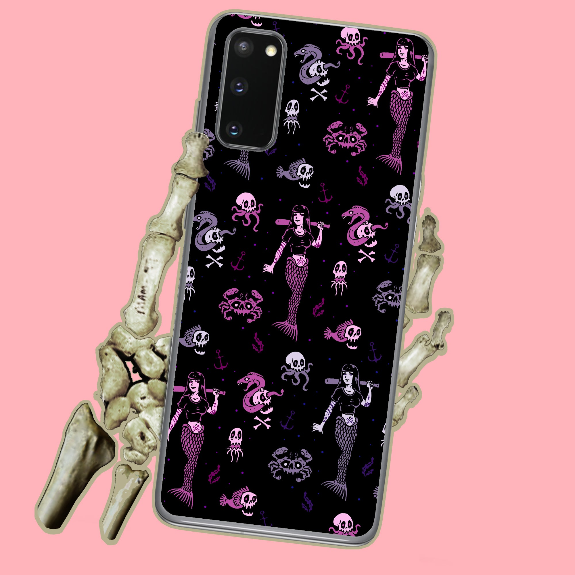 Goth Metal Mermaid Samsung Case