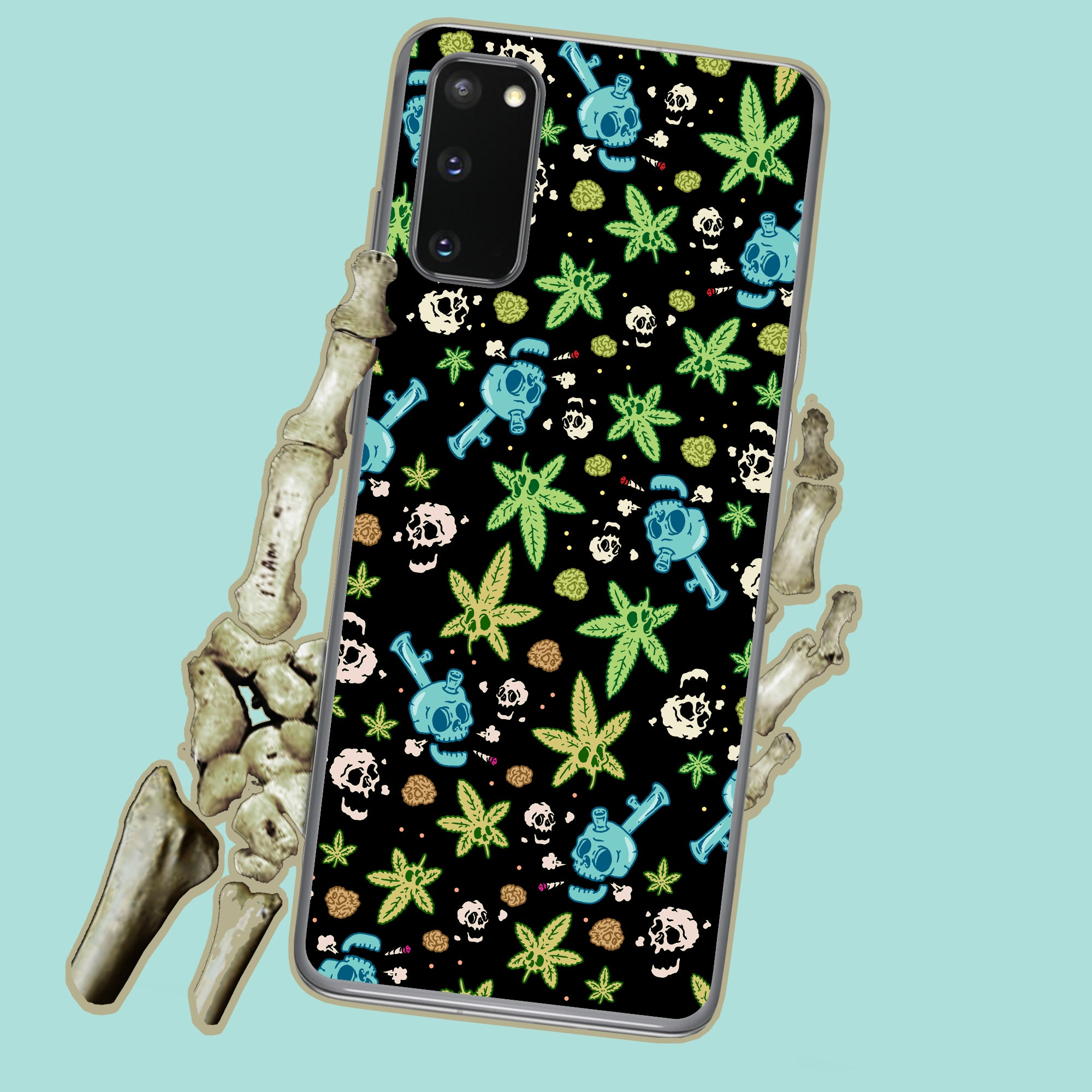 Weed And Skulls Samsung Case