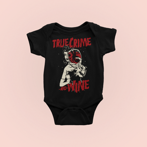 True Crime And Wine Murderino Baby Bodysuit