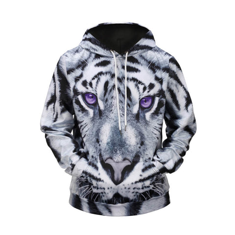 Black And White Tiger Hoodie