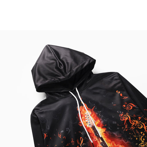 Guitar On Fire Hoodie