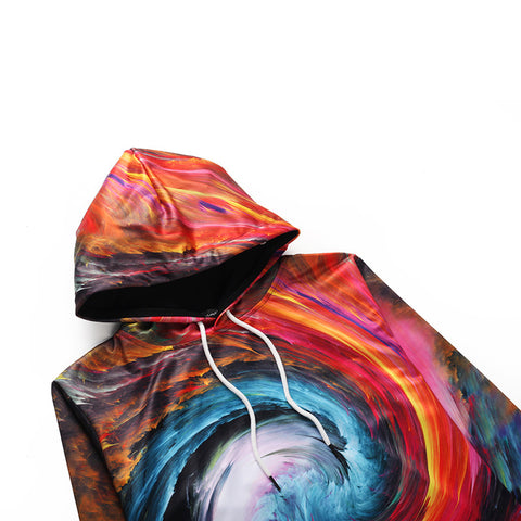 Image of Colorful Swirl Hoodie