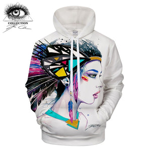 Girl with Headdress Hoodie