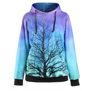 Tree against a Bright Sky Hoodie