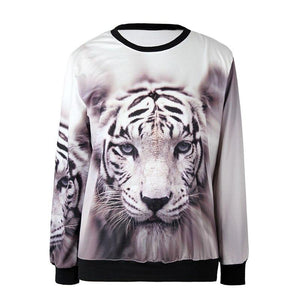 3D Gazing Lion Sweatshirt