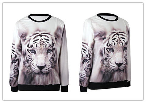3D Gazing Animal Sweatshirt