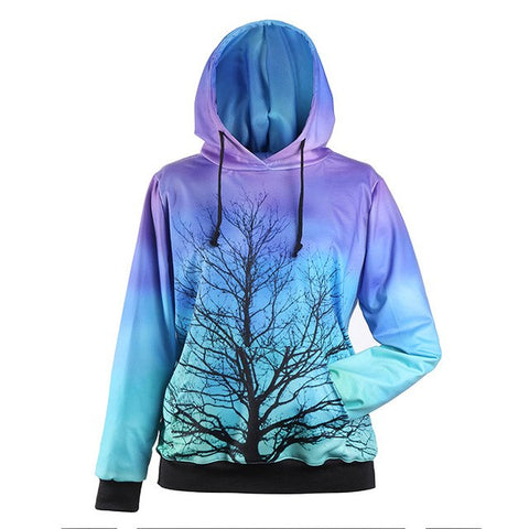 Image of Tree against a Bright Sky Hoodie
